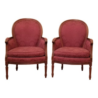 Harris Marcus Milano Collection Louis XVI Lounge Chairs - a Pair For Sale