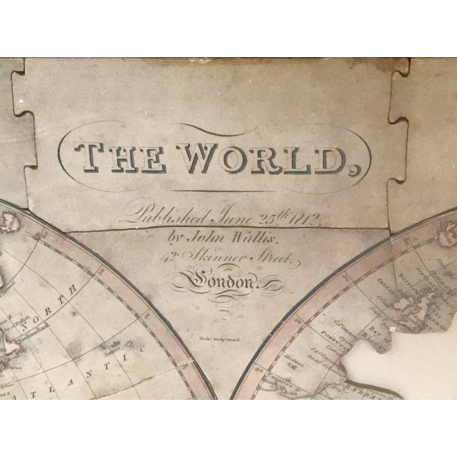Traditional John Wallis's New Dissected 1812 Puzzle World Map For Sale - Image 3 of 10