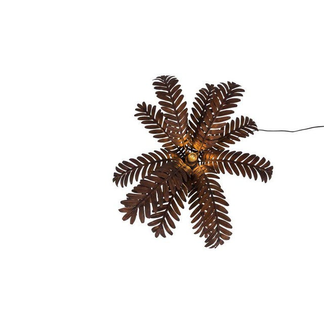 Maison Jansen Style Palmtree Table Lamp in Copper For Sale - Image 9 of 10
