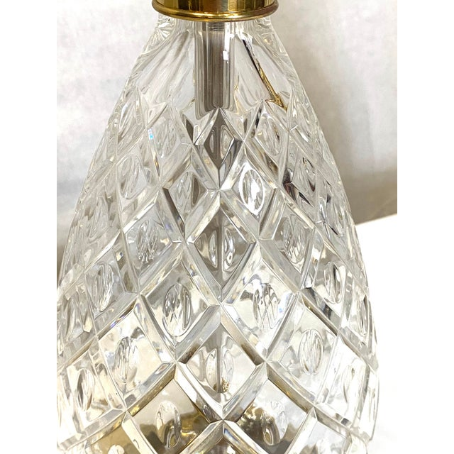 Brass Fabulous Vintage Wildwood Crystal Brass Pineapple Table Lamps - a Pair For Sale - Image 8 of 9