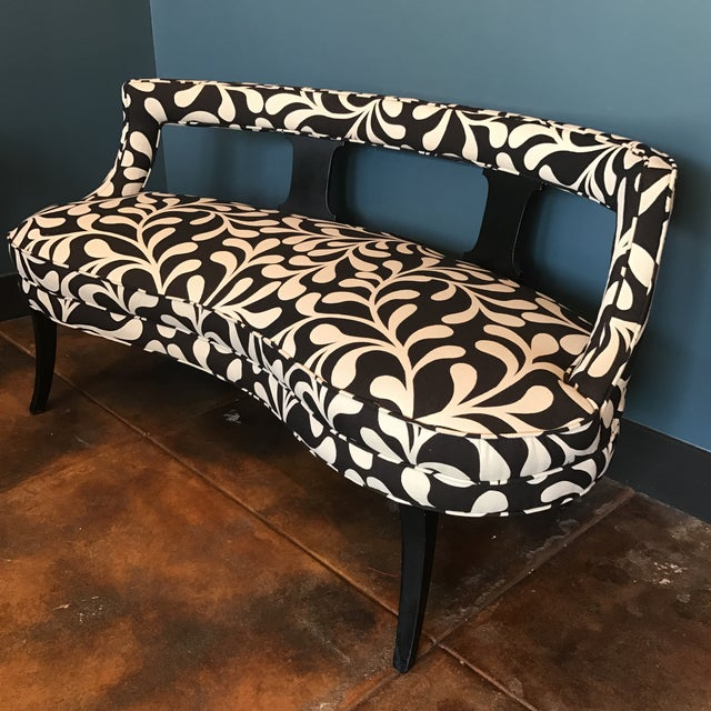 Black & White Botanical Loveseat - Image 2 of 8