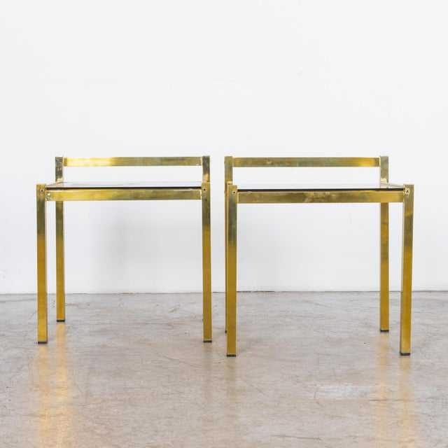 Mid-Century Modern 1970s French Glass and Brass Coffee Tables - Set of Two For Sale - Image 3 of 6