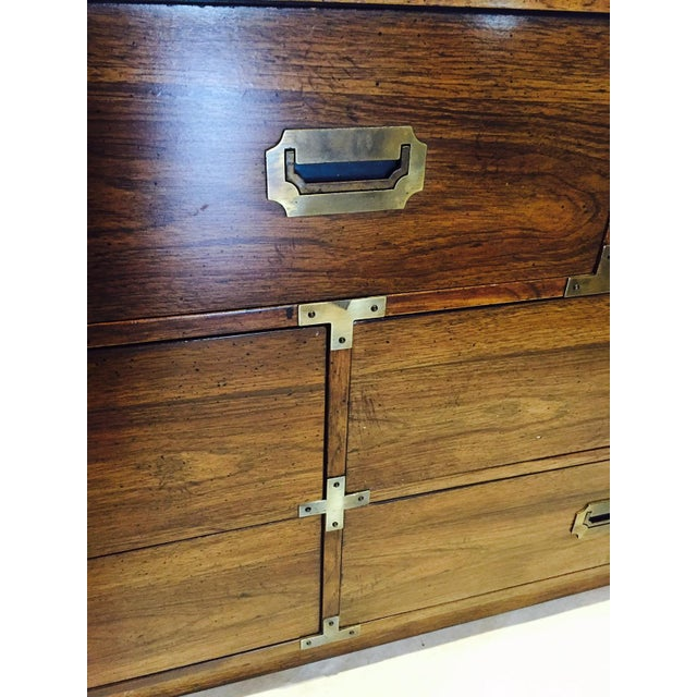 Vintage Iconic Campaign Dresser Low Credenza With 7 Drawers - Image 4 of 10