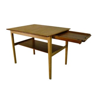 1950s Hans Wegner Occasional or End Tray Table in Oak and Teak For Sale