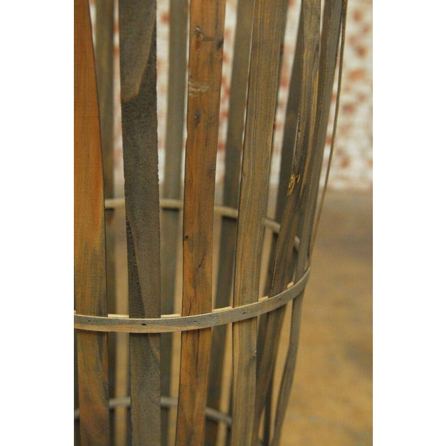Tall Wooden Cellar Baskets-Set of 3 For Sale - Image 4 of 11