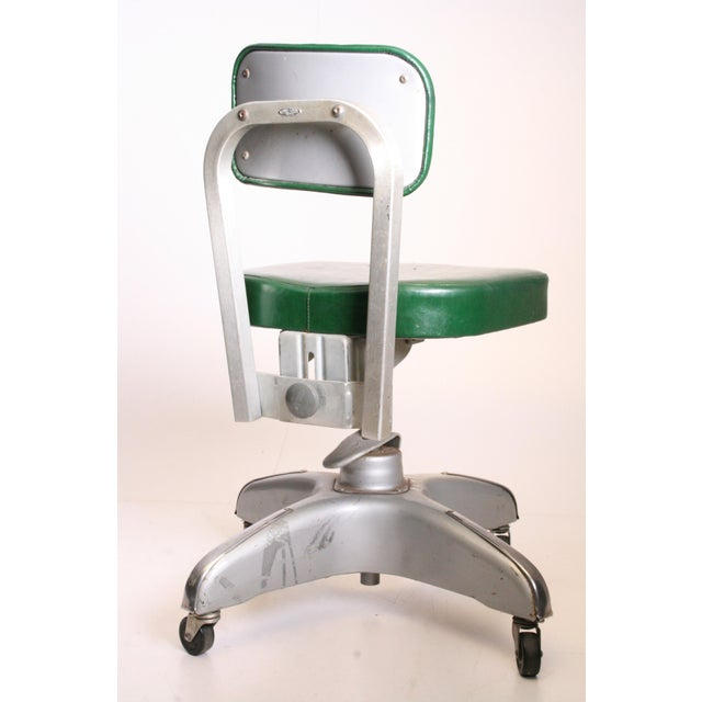 Green Vintage Cole Steel Industrial Swivel Office Chair For Sale - Image 8 of 11