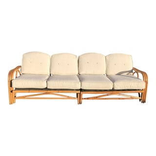 Mid-Century Rattan Sofa Sectional