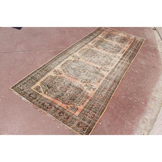 "Islamic Turkish Tribal Bohemian Runner Rug - 4'8"" x 11'1"" For Sale - Image 3 of 7"