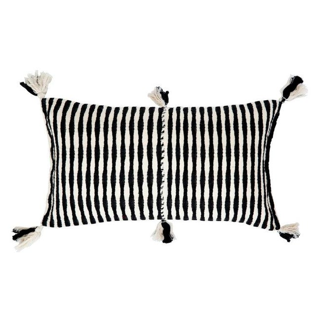 Black Striped Antigua Pillow For Sale In Los Angeles - Image 6 of 6