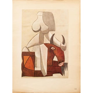 """1946 Picasso, """"The Kidnapping of Europe"""" Period First English Edition Lithograph For Sale"""