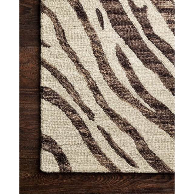 """Contemporary Loloi Rugs Masai Rug, Java / Ivory - 2'6""""x7'6"""" For Sale - Image 3 of 4"""