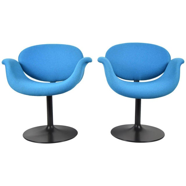 Pair of Little Tulip Chairs by Pierre Paulin for Artifort - Image 8 of 10