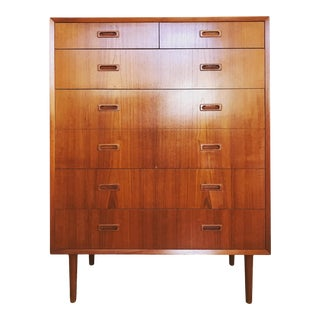 1950's Vintage Lyby Mobler Danish Modern Highboy For Sale