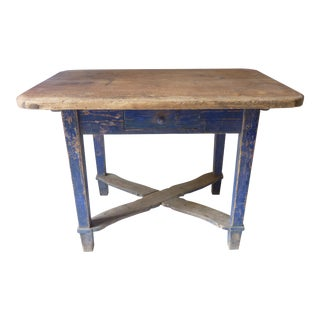19th Century Swedish Country Table For Sale