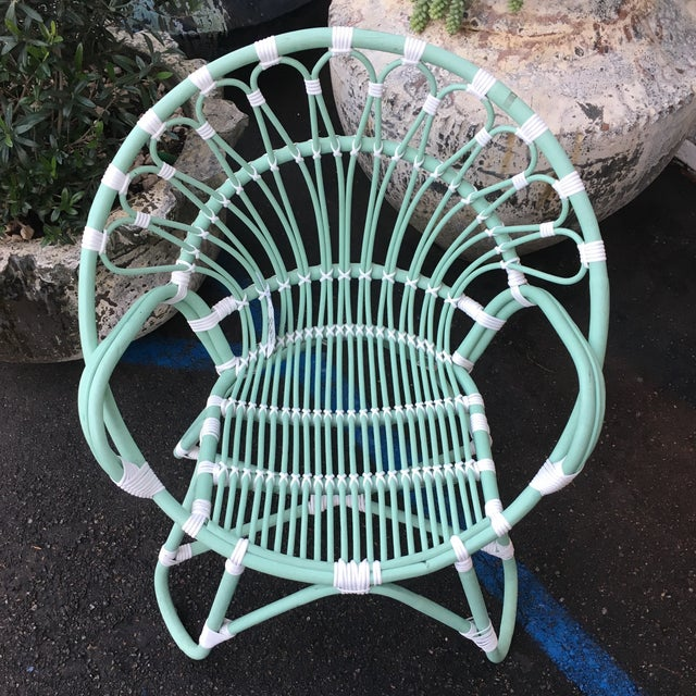 Indonesian Rattan Chair With Synthetic Rope - Image 5 of 6