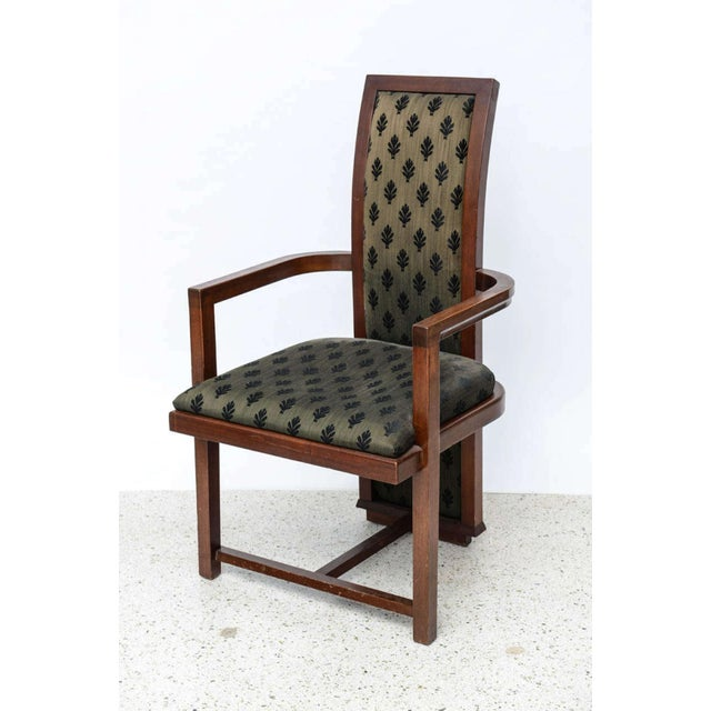 Black Set of 12 Frank Lloyd Wright Taliesin Mahogany Dining Chairs by Henredon For Sale - Image 8 of 9