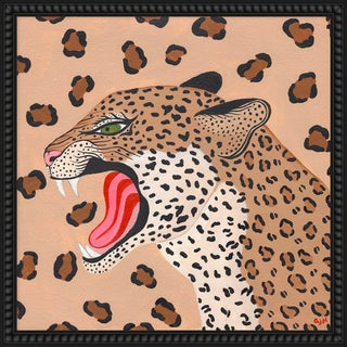 """Medium """"Cheetah"""" Print by Willa Heart, 26"""" X 26"""" For Sale"""