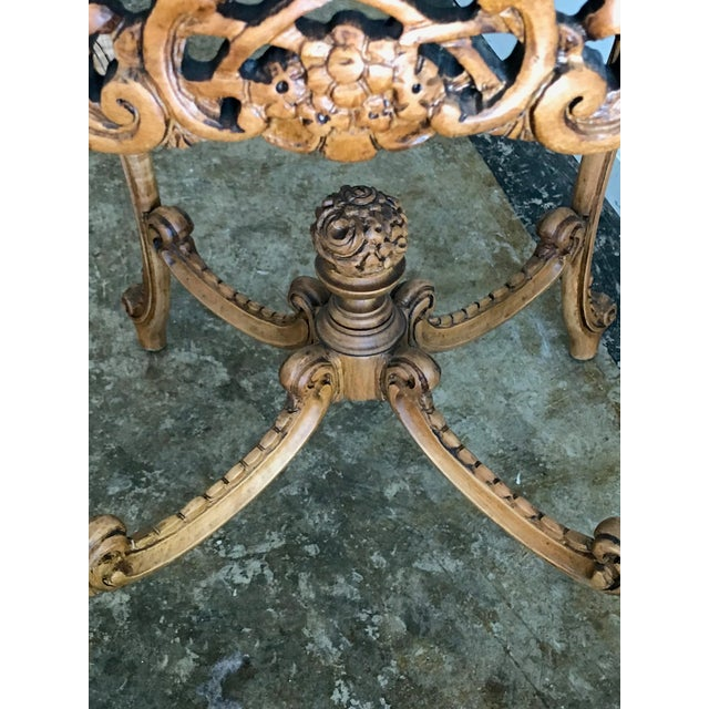 20th Century French Inlaid Wood Entry Table For Sale In Los Angeles - Image 6 of 7