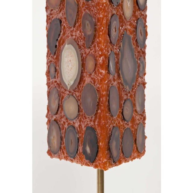 French Agate and Resin Table Lamp - Image 7 of 11