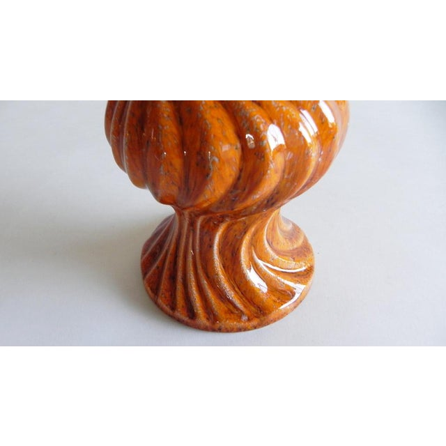 Mid-Century Modern Mandarin Twisted Vase For Sale - Image 3 of 7