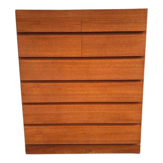 Danish Teak Tall Dresser - Image 1 of 7