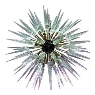 Large Italian Mid-Century Style Murano / Venetian Glass Sputnik Spike Chandelier