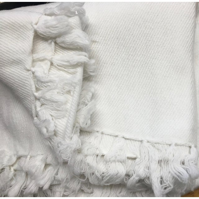 White Cashmere Blanket With Tassels - Image 11 of 11