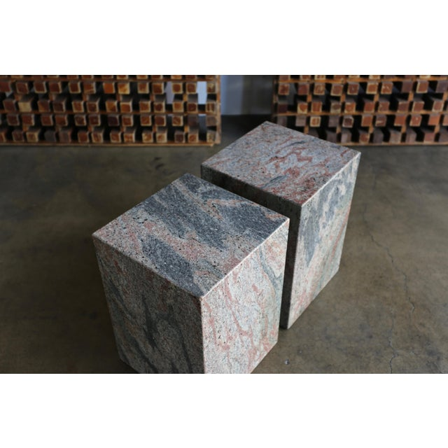 1980s Granite Stone Occasional Tables - a Pair For Sale - Image 4 of 11