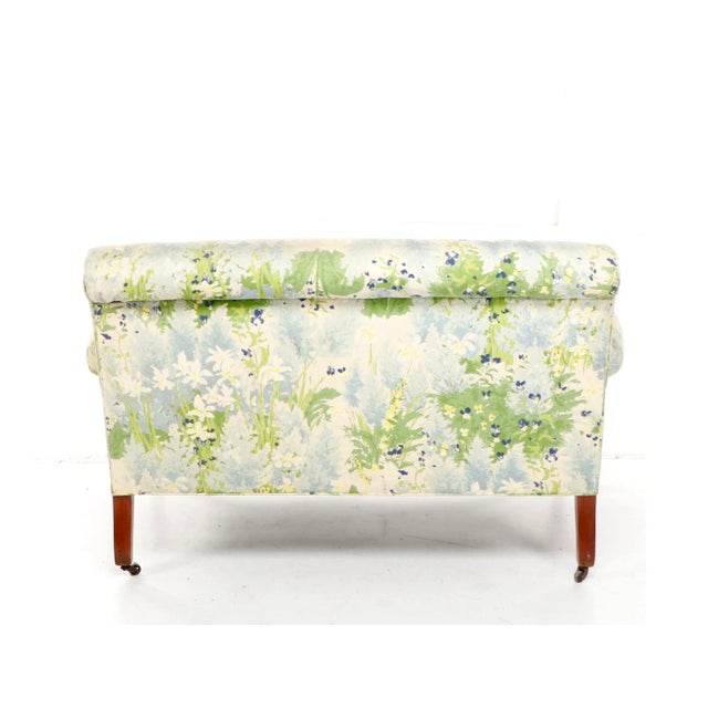 French 1940s Floral Upholstered Settee For Sale - Image 4 of 12