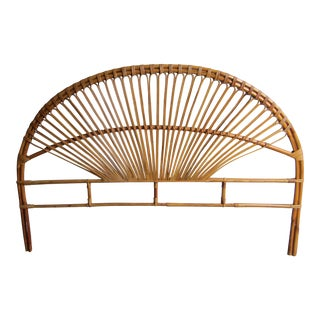 Mid-Century Modern Fan Bamboo and Bentwood Headboard For Sale