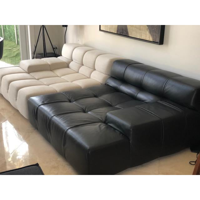 BB Italia sofa designed by Patricia Urquiola. Internal frame is steel and steel profiles. Internal frame upholstery:...
