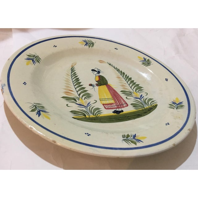 1940s French Henriot Quimper Porcelain Plate For Sale In New York - Image 6 of 8