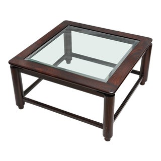 Mid Century Modern British Colonial Rosewood Coffee Table, circa 1960 For Sale