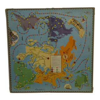 """World Cruise"" Parker Bros. Game Board"