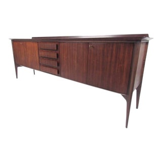 Italian Modern Ico Parisi Teak Sideboard For Sale