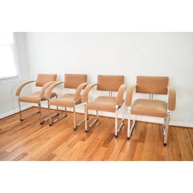 Vintage Giovanni Offredi for Saporiti Italia Dining Chairs - Set of 4 - Image 3 of 6