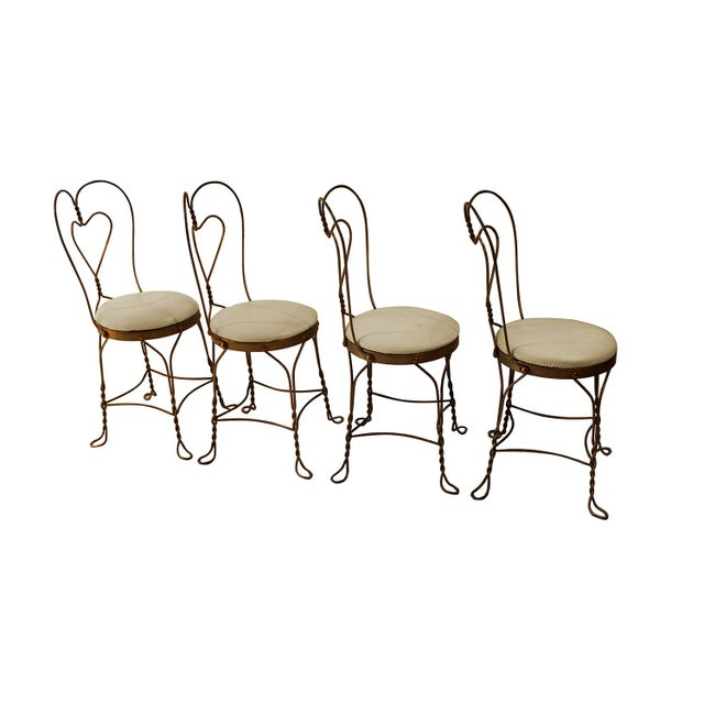 Vintage Wrought Iron Ice Cream Parlor Set For Sale In Baltimore - Image 6 of 10