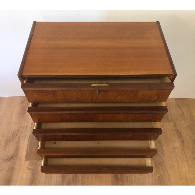 1960s Mid-Century Modern Handbjerg Mobelfabrik Teak Dresser With Key For Sale - Image 4 of 9