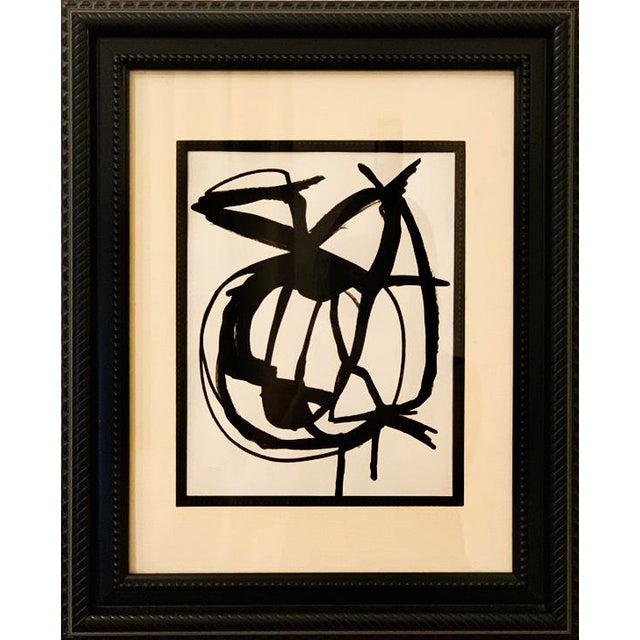 Franz Kline Framed Orignal Abstract Painting For Sale - Image 4 of 4