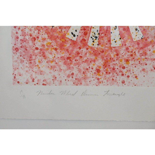 """Abstract Numbered 19 and Signed Print by Pop Artist James Rosenquist """"Number Wheel Dinner Triangle"""" - Image 4 of 6"""