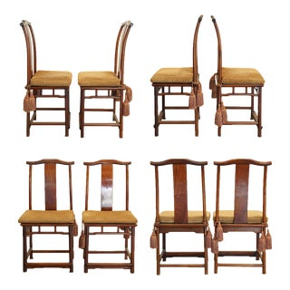 Yolk Back Ming Style Chinese Dining Chairs - Set of 8