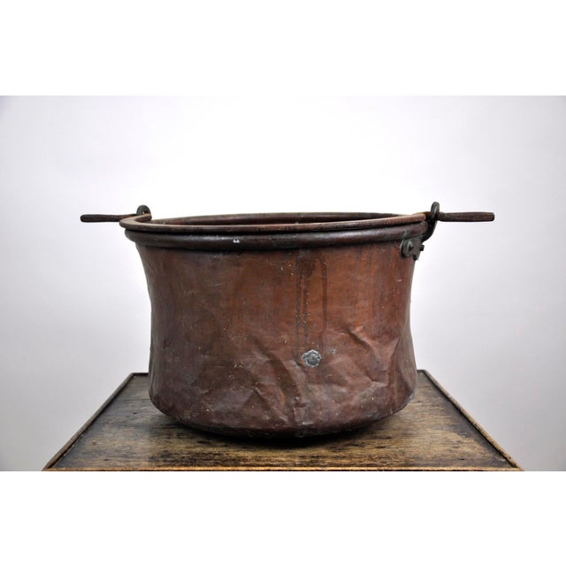Antique French Copper Cauldron Kettle For Sale - Image 4 of 13