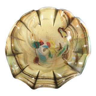 Murano Scalloped Bowl For Sale