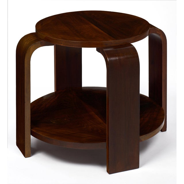 1930s Art Deco Period Walnut Gueridon For Sale - Image 5 of 11
