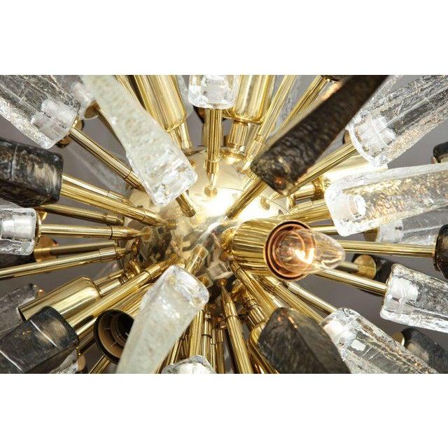 Venfield Murano Smoke and Clear Glass Spike Sputnik For Sale - Image 4 of 10