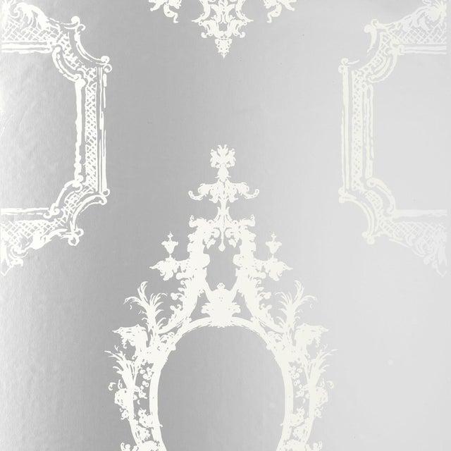Sample - Schumacher Go Baroque Wallpaper in Mirror For Sale
