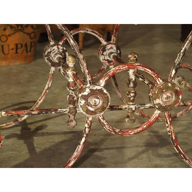 French Iron and Marble Pastry Table For Sale - Image 9 of 13