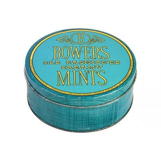 Vintage Turquoise Candy Tin Box For Sale