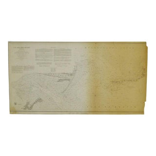 1850 Cat and Ship Island Harbors Nautical Chart For Sale