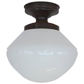 1920s Vintage School House Ceiling Light For Sale
